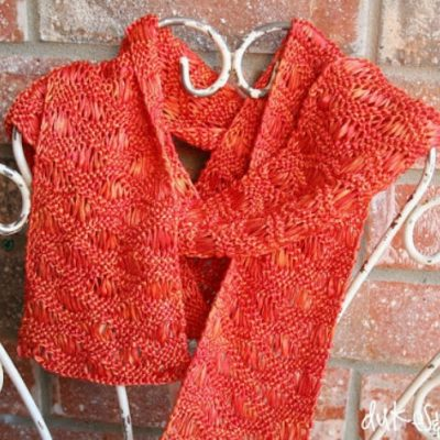 Knit Ribbon Scarf