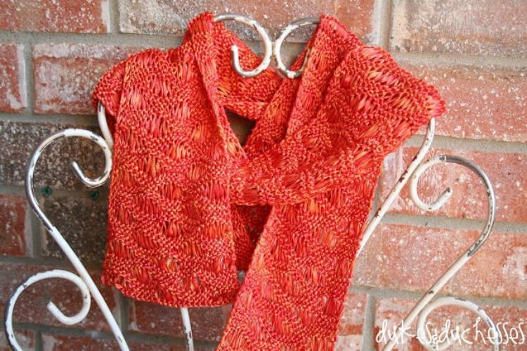 knit ribbon scarf pattern