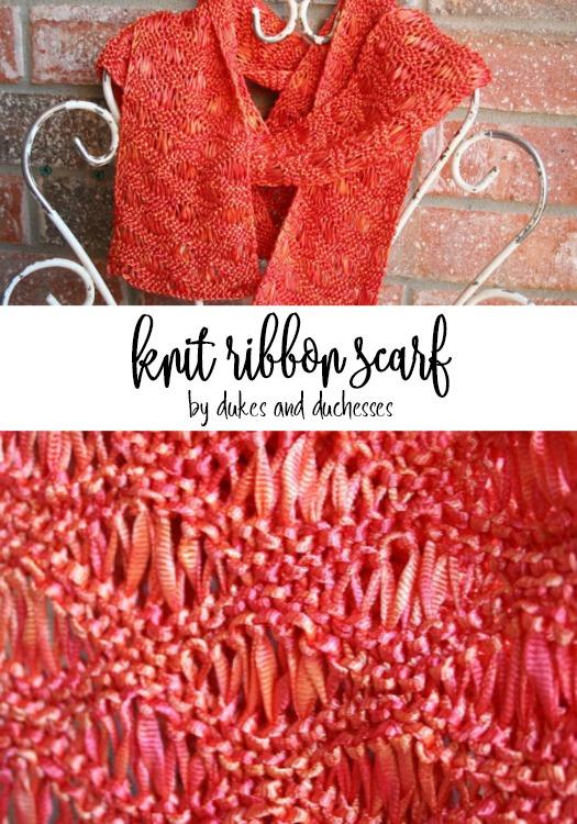 knit ribbon scarf