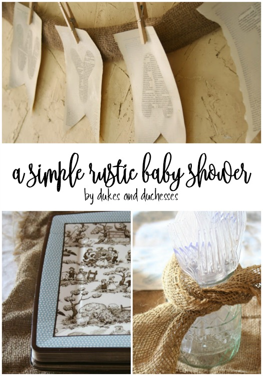 simple rustic baby shower