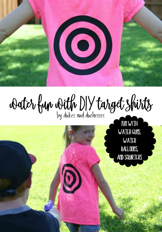water fun with DIY target shirts