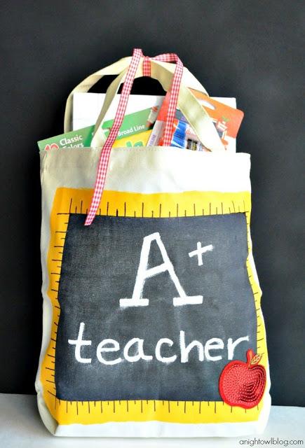 10 back to school ideas :: chalkboard tote