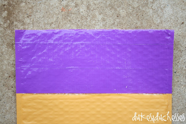 how to make a monogrammed duct tape messenger bag