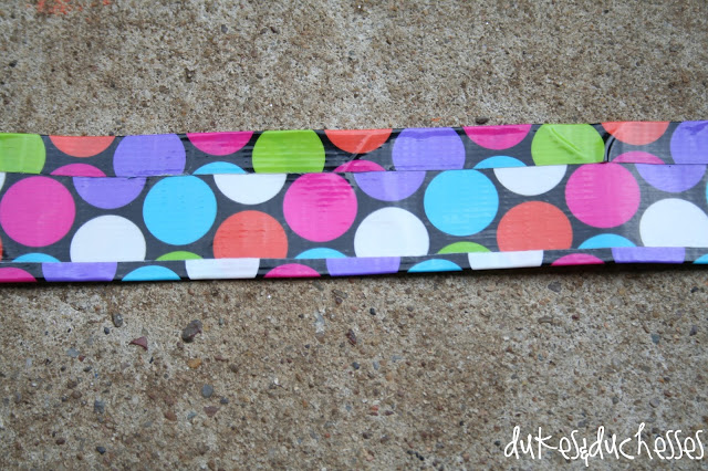 making the strap for a monogrammed duct tape messenger bag