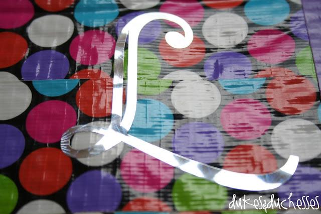 duct tape monogram