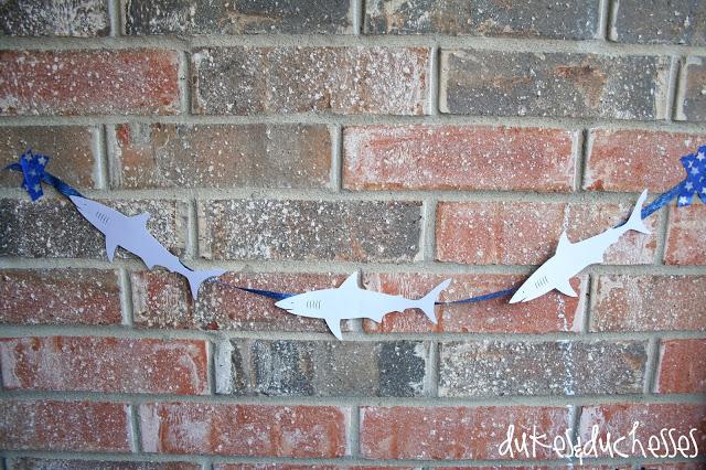 shark party garland