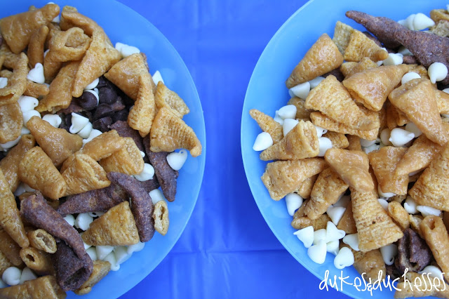 shark teeth snacks for a shark party