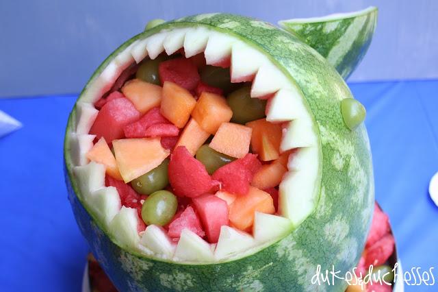 shark party :: shark watermelon