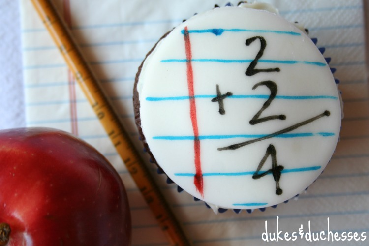 back to school cupcakes