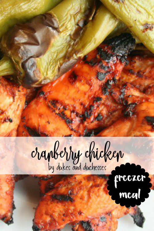 cranberry chicken freezer meal