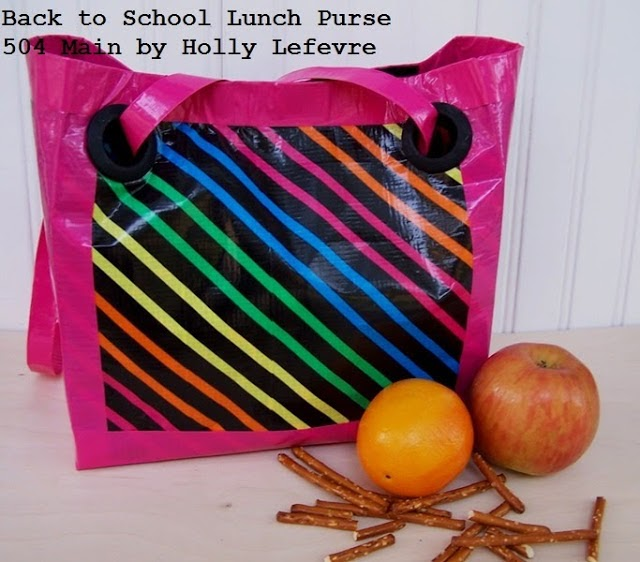 10 back to school ideas :: duct tape lunch tote