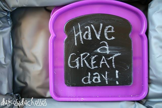 10 back to school ideas :: chalkboard lunch notes
