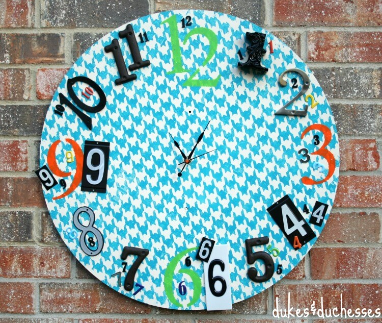 eclectic painted clock
