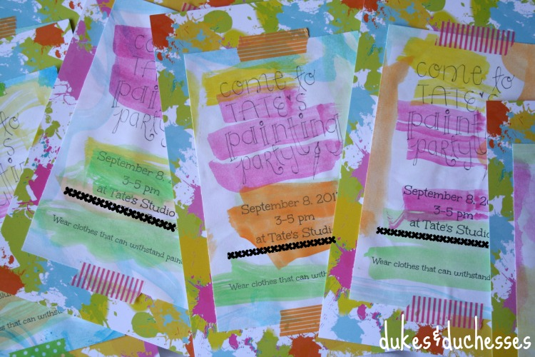 Painting Party Invitations Dukes And Duchesses