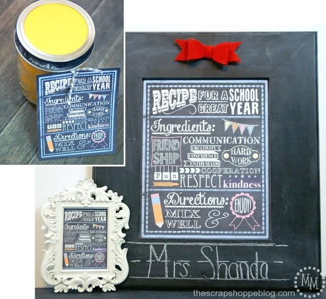 10 back to school ideas :: chalkboard printable