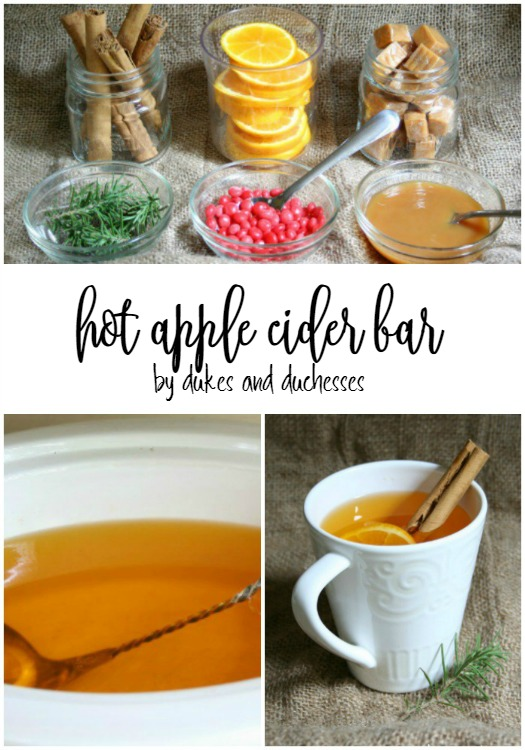 hot apple cider bar