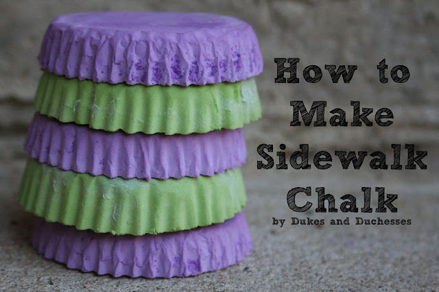 how to make DIY sidewalk chalk