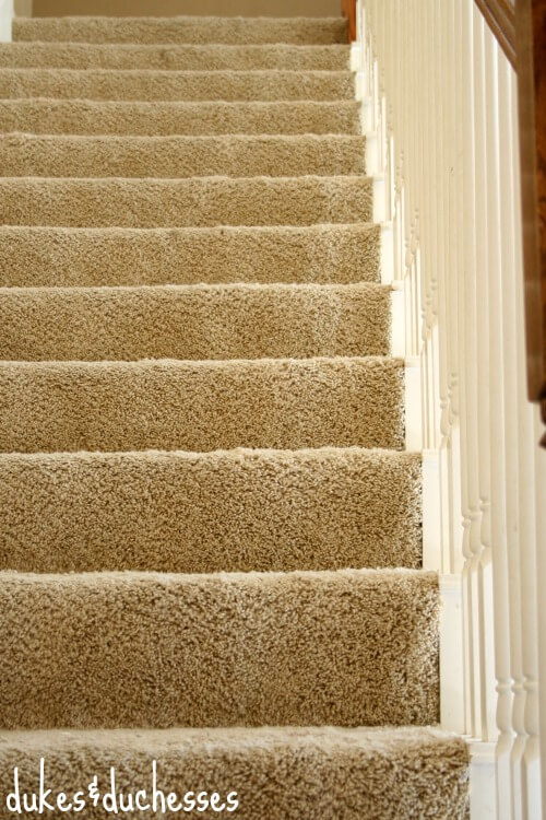 stairs holiday entertaining and cleaning