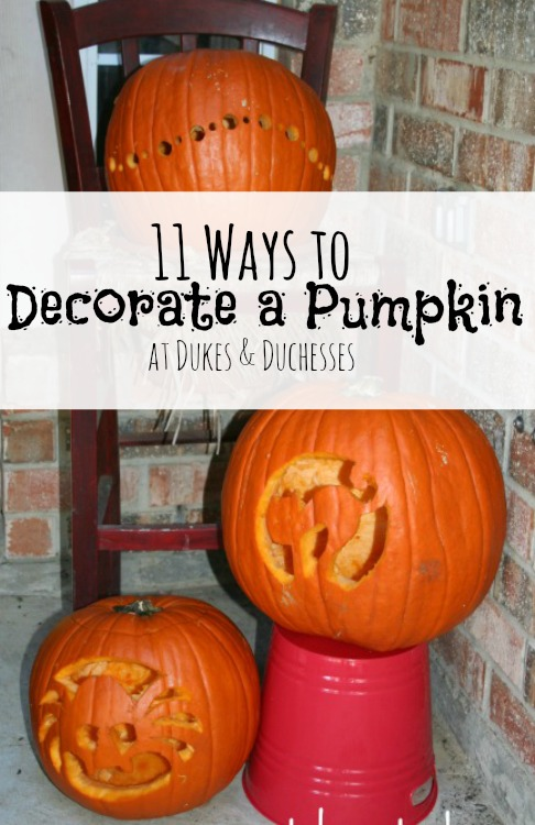 11 ways to decorate a pumpkin