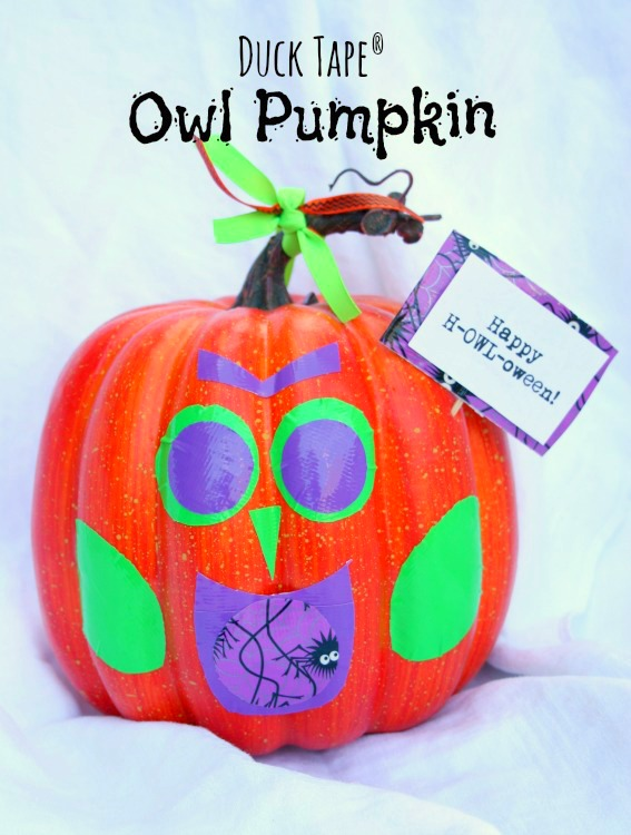 duct tape owl pumpkin