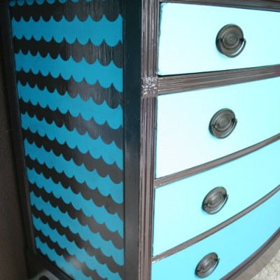 An Ombre Scallop Patterned Dresser {with Shape Tape™}