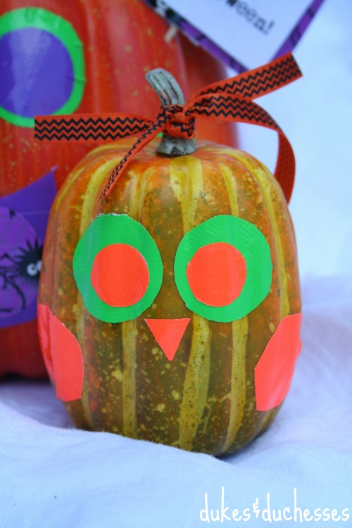 duck tape owl pumpkin