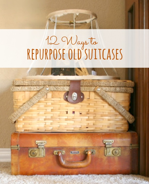 repurpose old suitcases