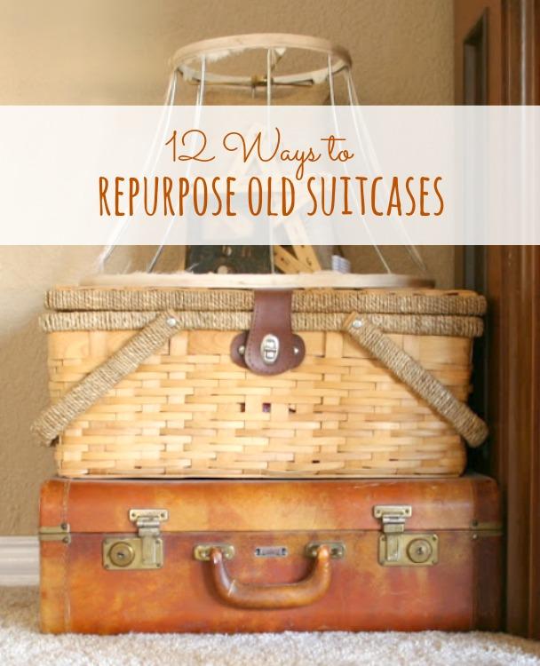 repurpose old suitcases