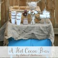 a hot cocoa bar