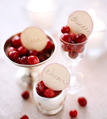 cranberry placecard cups