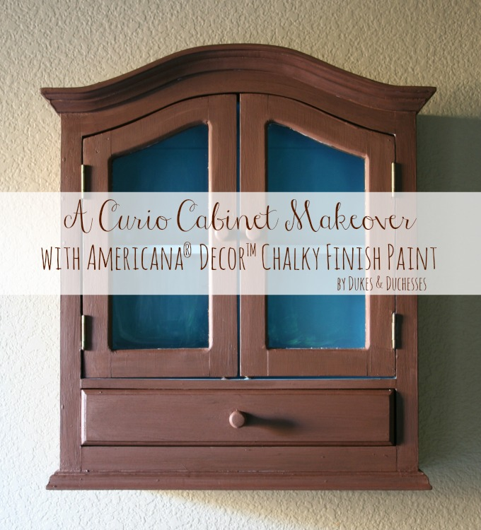 curio cabinet makeover with chalky finish paint