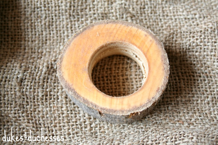drilled wood slice