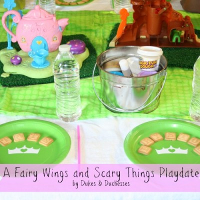 A Magic Fun Dough Fairy Wings and Scary Things Playdate