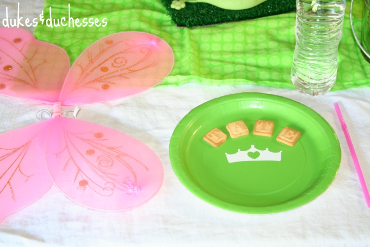 fairy wings place setting