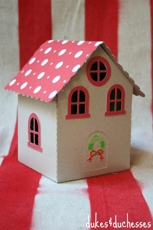 gingerbread house made from chipboard
