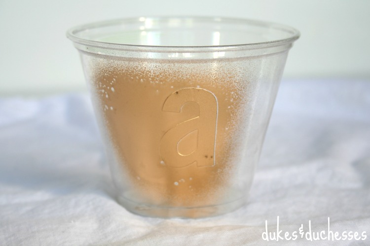 monogrammed gold painted cups