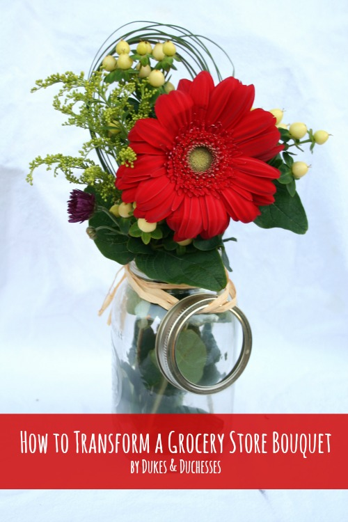 how to transform a grocery store bouquet