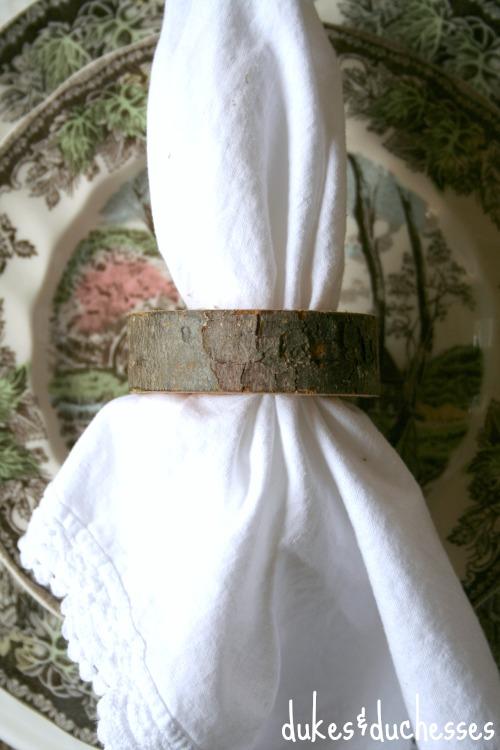 log napkin ring