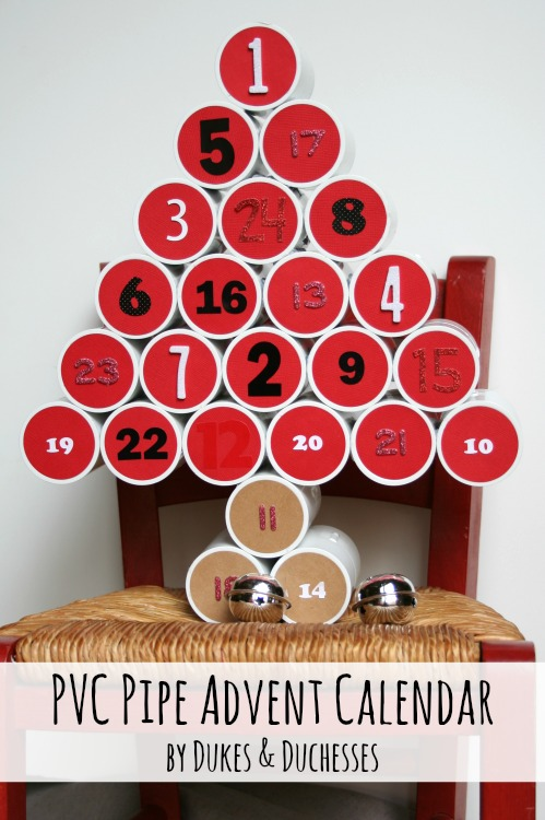 pvc pipe advent calendar