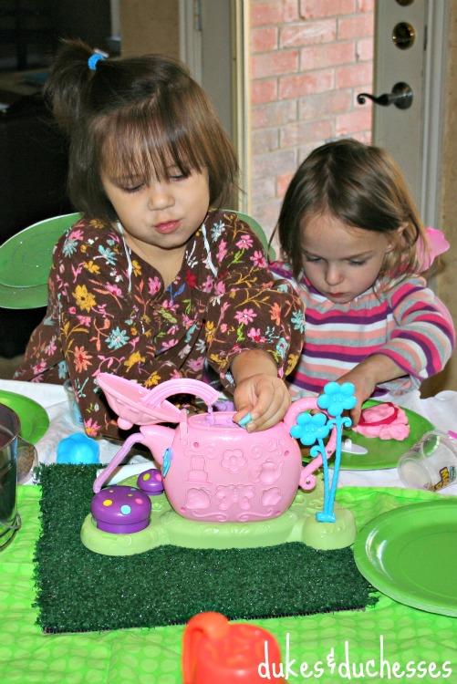 tea party with magic art dough