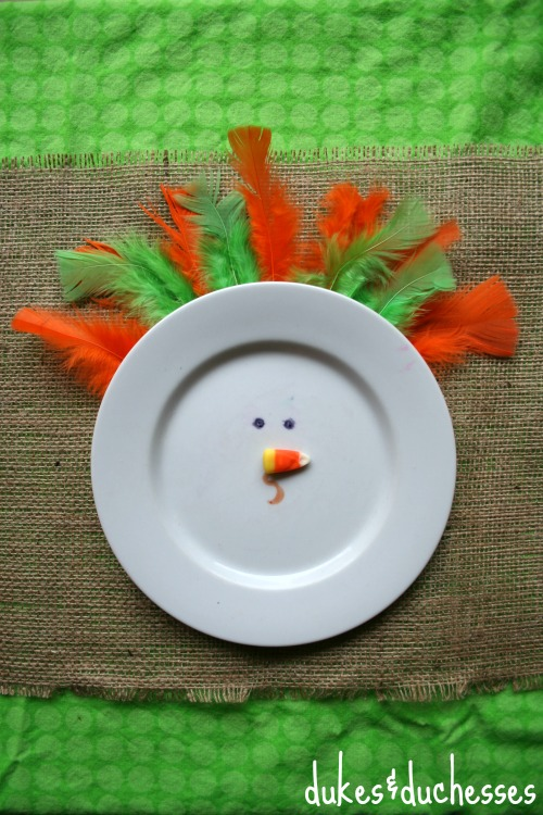 turkey plate for the kids table
