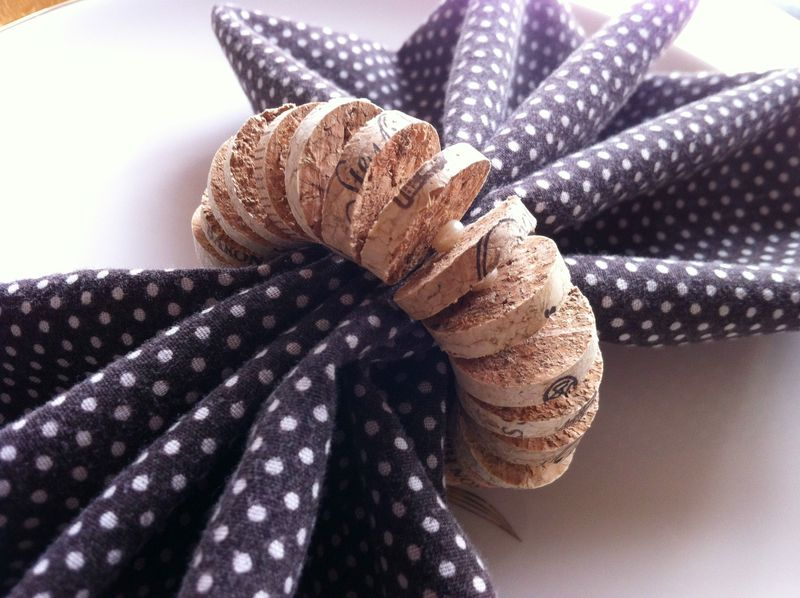 cork napkin rings