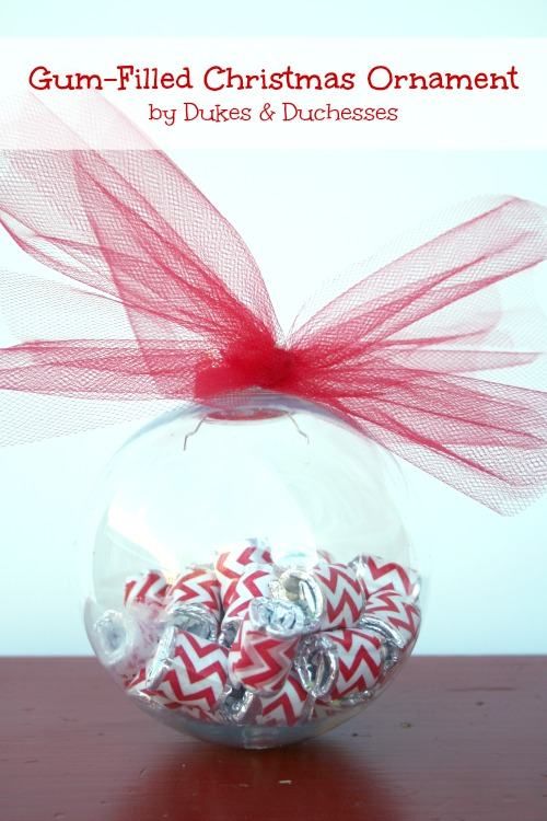 gum-filled Christmas ornament #shop