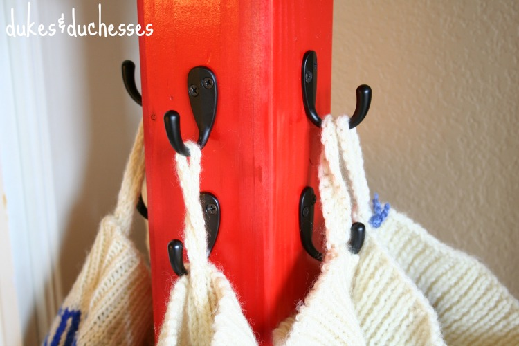 hooks on stocking hanger