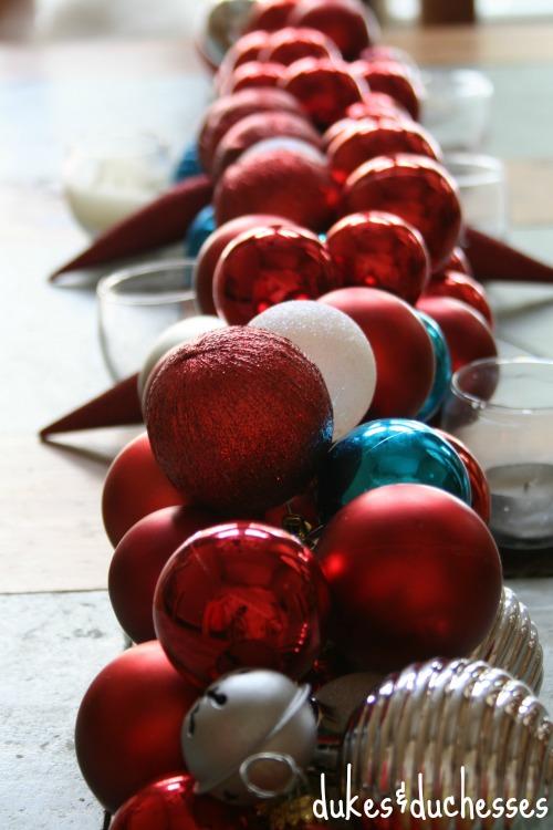 ornament garland table runner