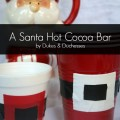 santa hot cocoa bar