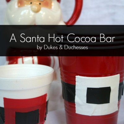A Santa Hot Cocoa Bar