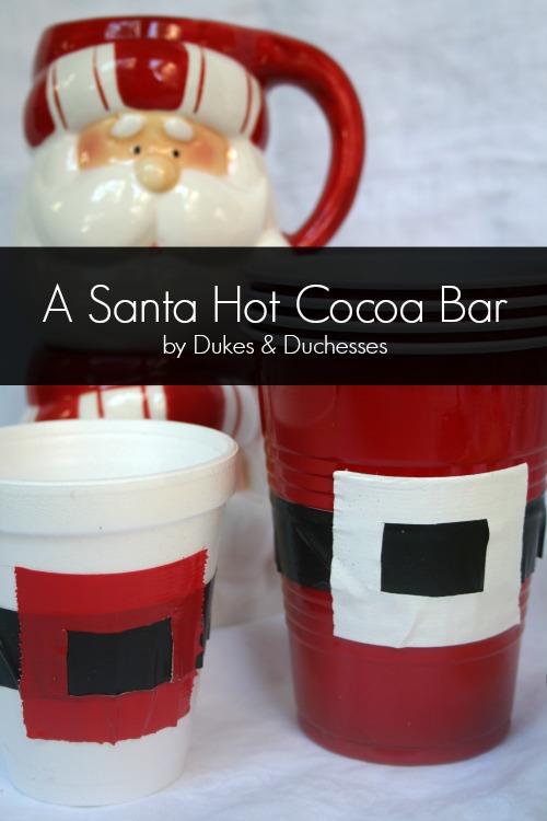 santa hot cocoa bar