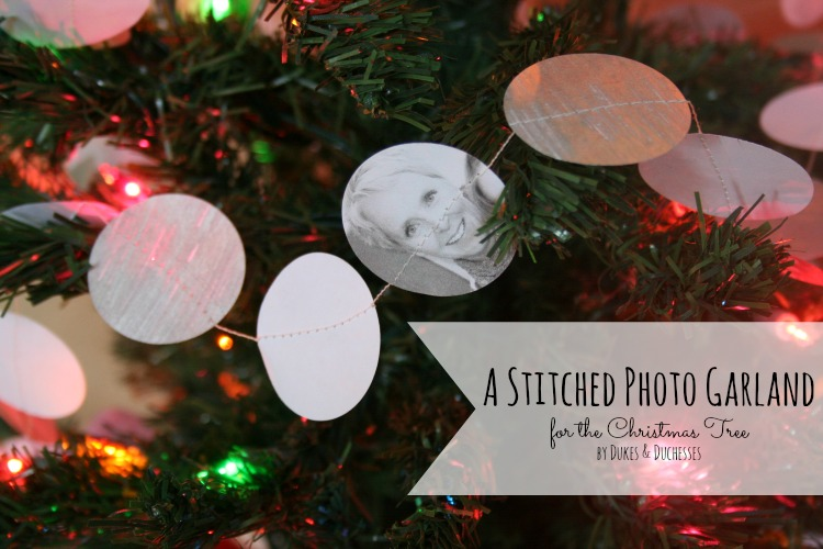 stitched photo garland