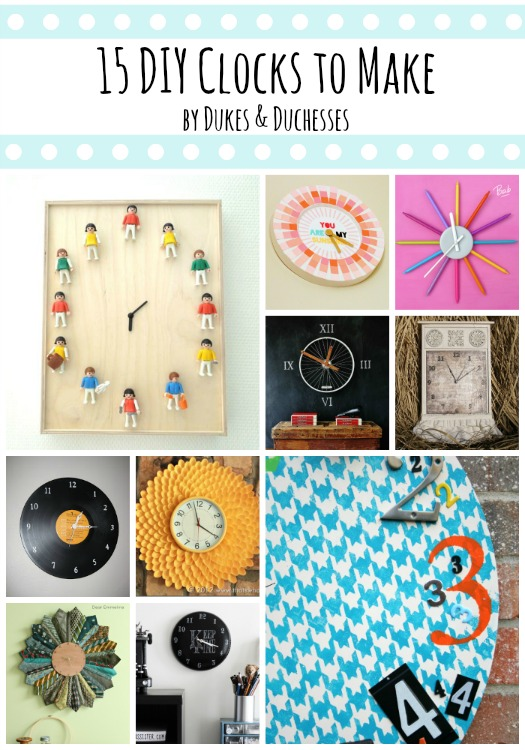 15 DIY clocks to make